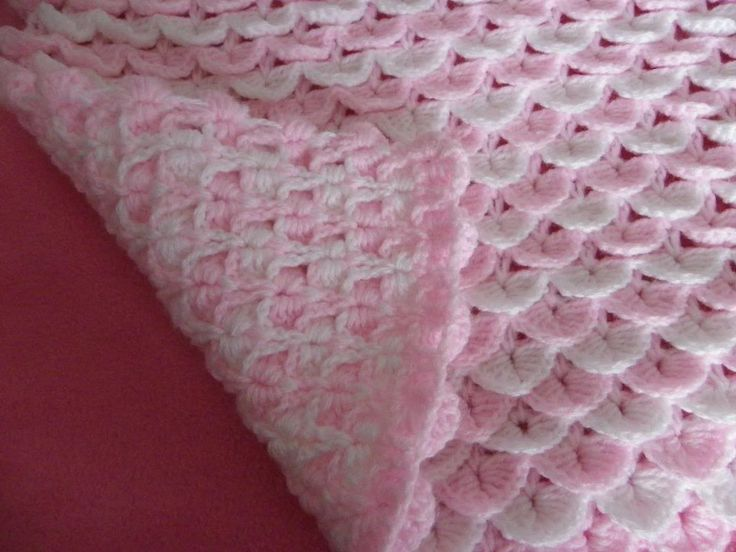 Free Crochet Baby Blanket Patterns BABY REBORN COT PRAM COVER BLANKET CROCH...