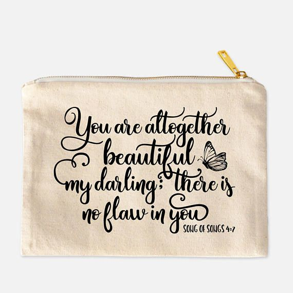 Christian Gift for Women  Song of Songs 4:7  You Are Altogether Beautiful My Darling