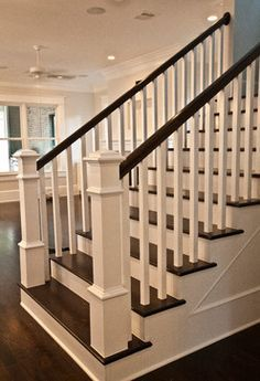 craftsman painted stair case - Google Search                                                                                                                                                                                 More