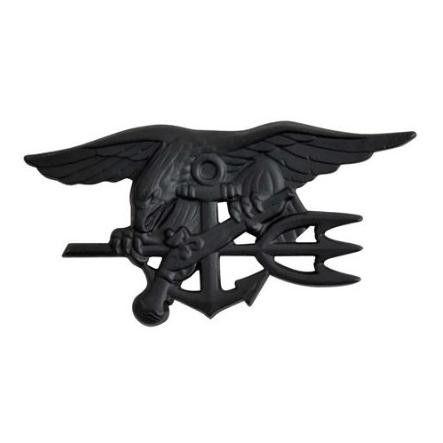 US Navy Seals Special Warfare badge - nero