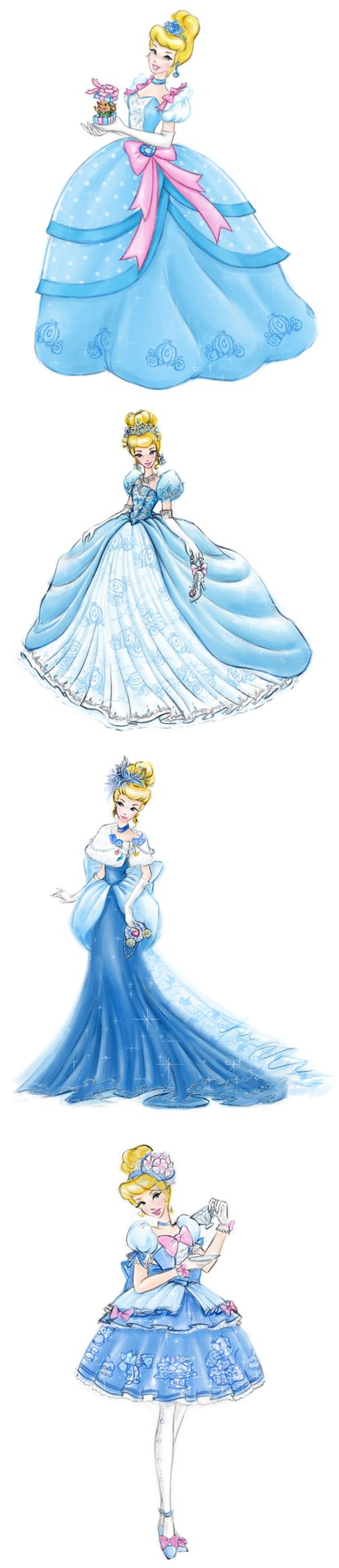 Cinderella dress designs by * Jenny Chung* -- I particularly like the second and fourth designs.