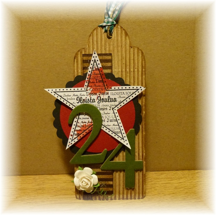 a Finnish Christmas tag - stamp from Vilda Stamps
