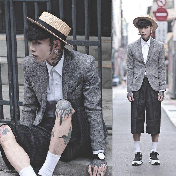 Get this look: http://lb.nu/look/7229138  More looks by IVAN Chang: http://lb.nu/ivan  Items in this look:  Tastemaker 達新美 Blazer, Tastemaker 達新美 Shirt, Tastemaker 達新美 Pants, Nike Air Max, Klasse14 Watch   #artistic #street #vintage