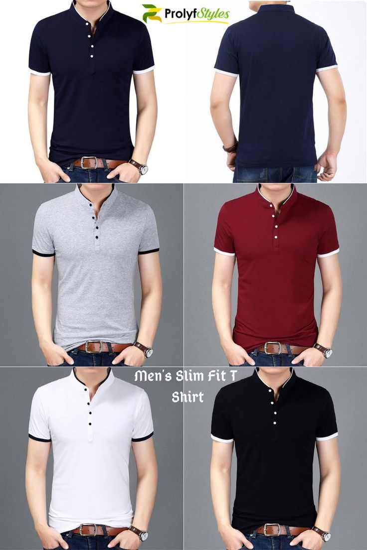 Men's Slim Fit T Shirt in 2019 | A | Mens fashion:__cat__