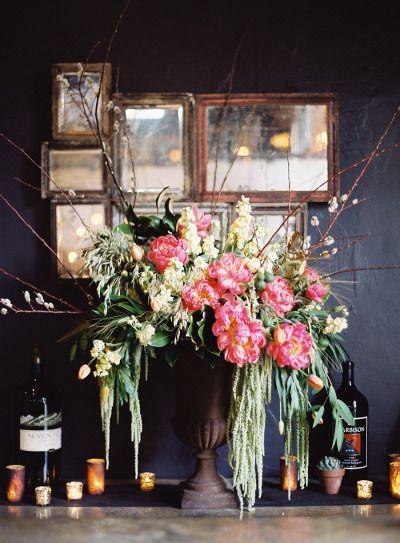 Gorgeous florals: http://www.stylemepretty.com/2015/02/26/elegant-santa-barbara-restaurant-rehearsal-dinner/ | Photography: Jose Villa - http://josevilla.com/