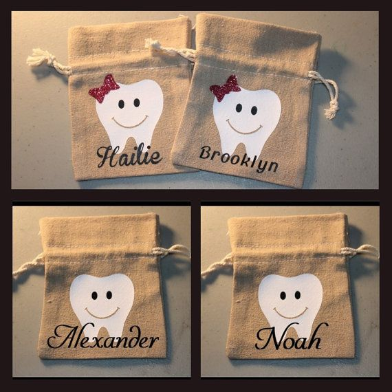Personalized Tooth Fairy Bag, Tooth Fairy Pouch, Tooth Holder, Toothfairy, Kids…