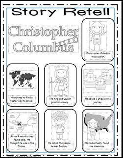 Week 2- Christopher Columbus (Language/History- story retelling) + have G write a journal entry about CC