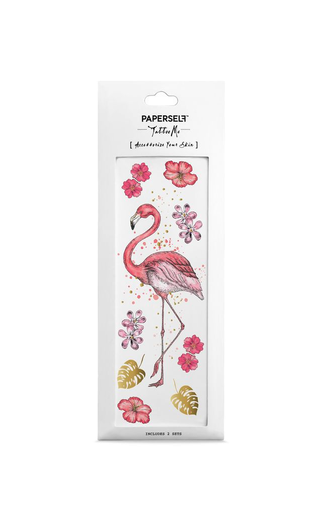 29642936b Flamingo Temporary Tattoo By PAPERSELF |