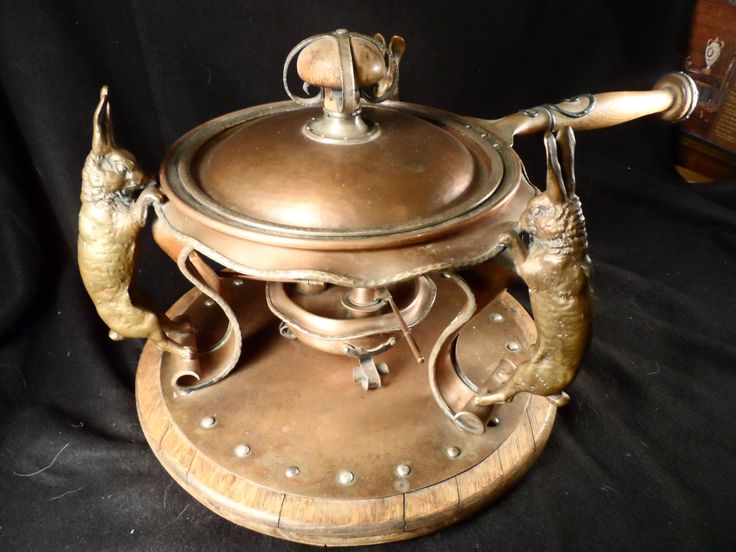 Joseph Heinrich A/C Gorham Chafing Dish Rabbits-Sterling Silver, Brass Copper-Charles L Tutt Estate-Antique Estate Sale-Shipping Included by BCScollectibles on Etsy