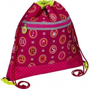 ΤΣΑΝΤΑ ΔΡΑΣΤΗΡΙΟΤΗΤΩΝ ABC Πρόκειται για μια τσάντα - πουγγί πλάτης, σε φουξ χρώμα με ανάγλυφες κεντημένες λεπτομέρειες, κατάλληλη για να τοποθετήσετε στο εσωτερικό της τα απαραίτητα πράγματα για το νηπιαγωγείο, όπως το φαγητό και το νερό. Μπορείτε ακόμη να τη χρησιμοποιήσετε για μια βόλτα στο πάρκο ή στις διάφορες δραστηριότητες του παιδιού. Διαθέτει 2 κορδόνια τα οποία κλείνουν το πουγκί. Διαστάσεις ύψος 40,0 x μήκος 36,0 εκατοστών. Μια τσάντα δραστηριοτήτων της εταιρίας Spiegelburg.