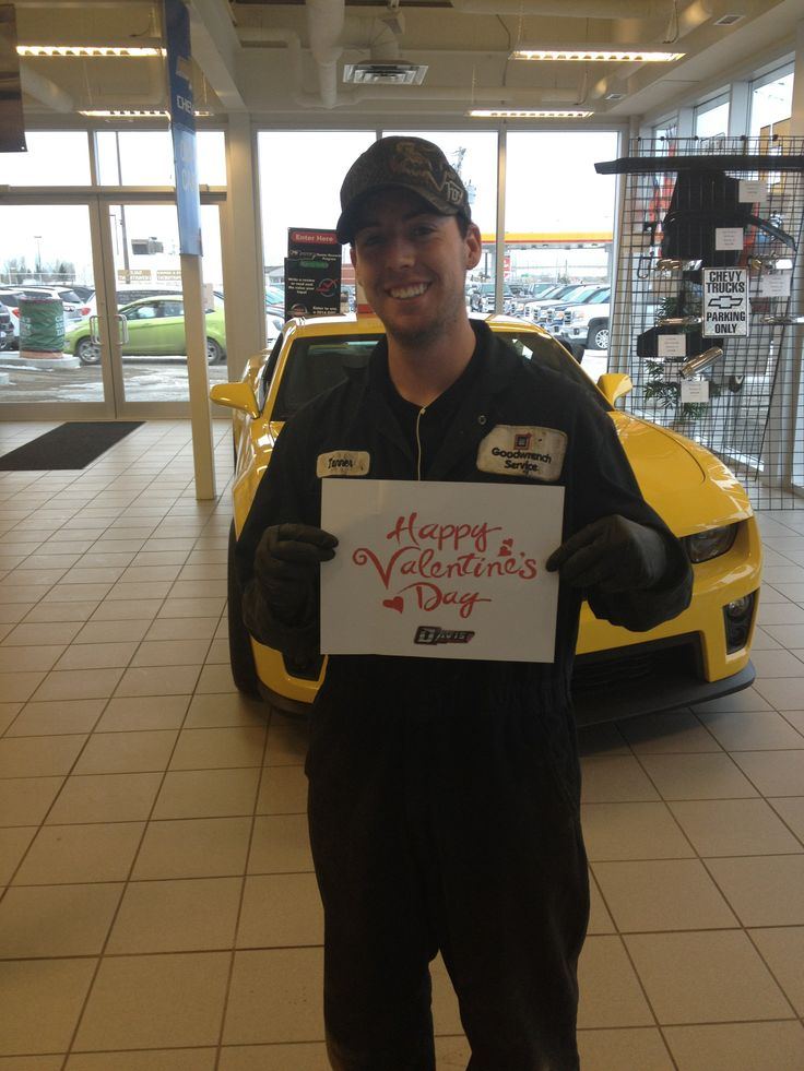 Tanner, one of our techs wishes everything a Happy Valentines day! #airdrie #yyc #alberta