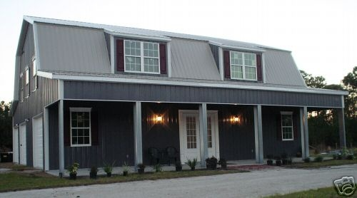 15 must see steel home kits pins metal building homes for Gambrel style steel building