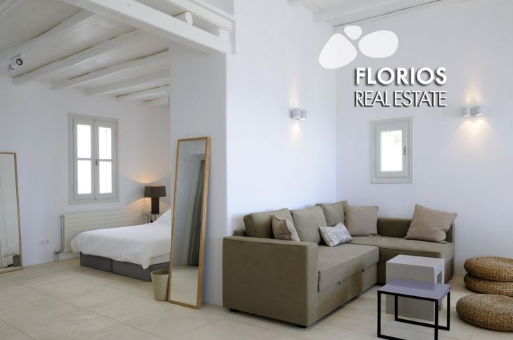 Fully furnished/ fully equipped Villa for Sale on Mykonos island, Greece. It consists of 2 Master bedrooms, 5 Bedrooms en suite, 8 Guest rooms, Personnel rooms (up to 30 guests). FL1452 http://www.florios.gr/en/mykonos-property/14.html