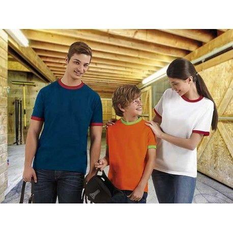 Camiseta typed combi 100% algodón. La camiseta typed combi es barata y es muy cómoda y ligera. Esta camiseta económica es completamente personalizable con serigrafía y bordado. Regalo promocional estrella del verano. Disponible en varios colores. http://www.kiopromotional.com