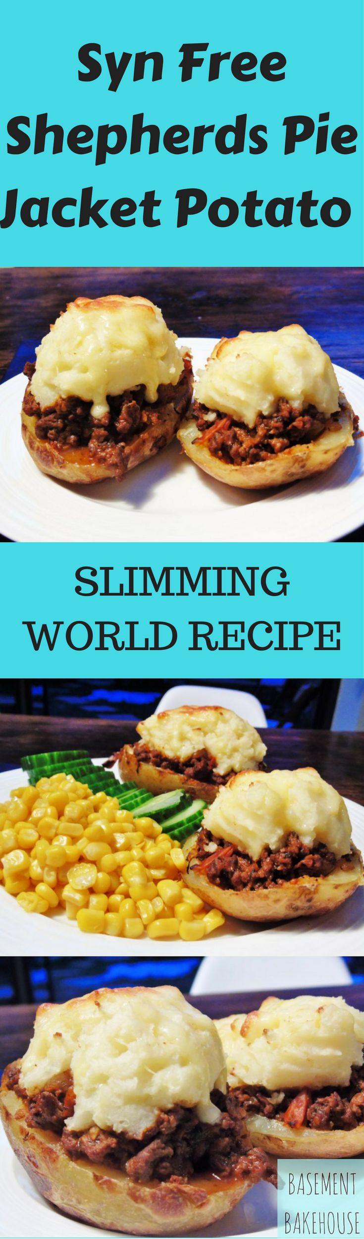 Syn Free Shepherds Pie Jacket Potatoes - Slimming World - Syn  Free - Jacket Potatoes - Easy - Dinner - Recipe