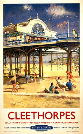 View of Cleethorpes Pier, including beach s, Hick, Allanson