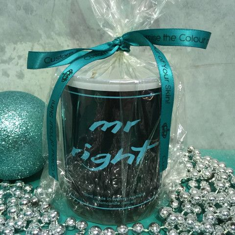 Quote Candle -  Mr Right.