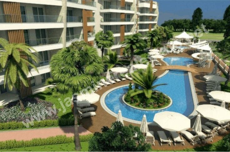 Flower Garden III, Oba/Alanya  Facilities:  • Large outdoor pool  • Children's pool  • Playground in garden  • Indoor playground  • Barbecue area  • Activity room  • Fitness center  • Sauna  • Jacuzzi  • Change rooms  • Indoor heated swimming pool  • Turkish bath  • Massage room with heated marble