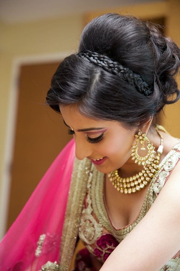 Astounding 1000 Ideas About Indian Bridal Hairstyles On Pinterest Indian Hairstyle Inspiration Daily Dogsangcom