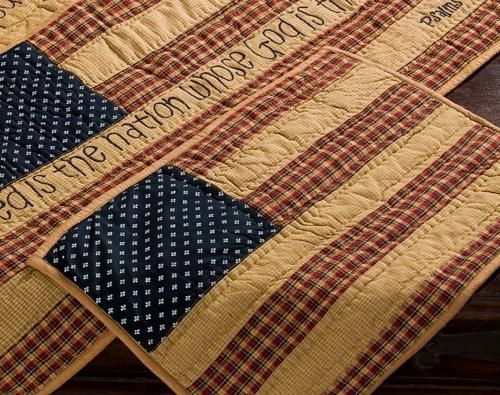 Patriotic Patch Quilted Flag Placemat - Set of 2