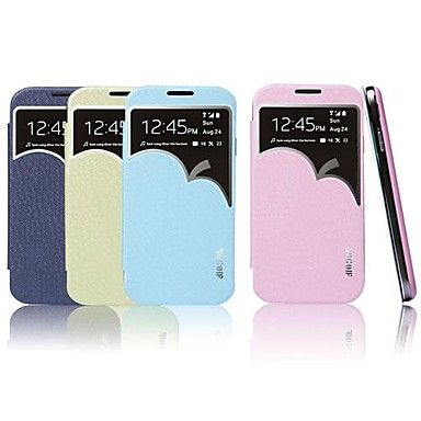Smart Apple Shaped Window View Sleep Wake Up Flip PU Leather Wallet Cover Case for Samsung Galaxy S4 I9500 – USD $ 15.99