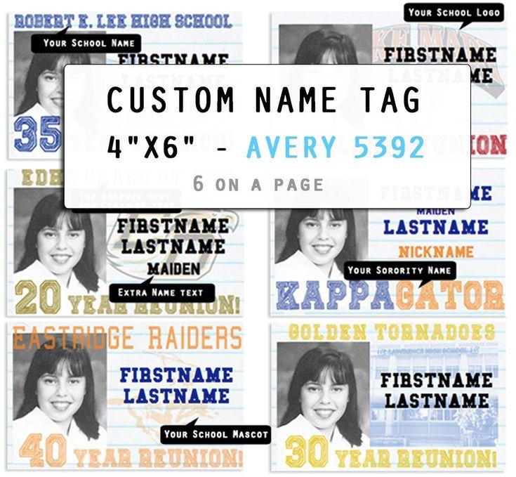 custom name tag - digital download