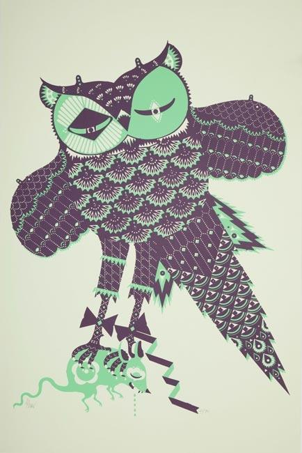 twisted little owl by Finnish designer Klaus Haapaniemi