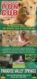 Paradise Valley Springs Wildlife Park, Rotorua. I want to pat a lion cub!!