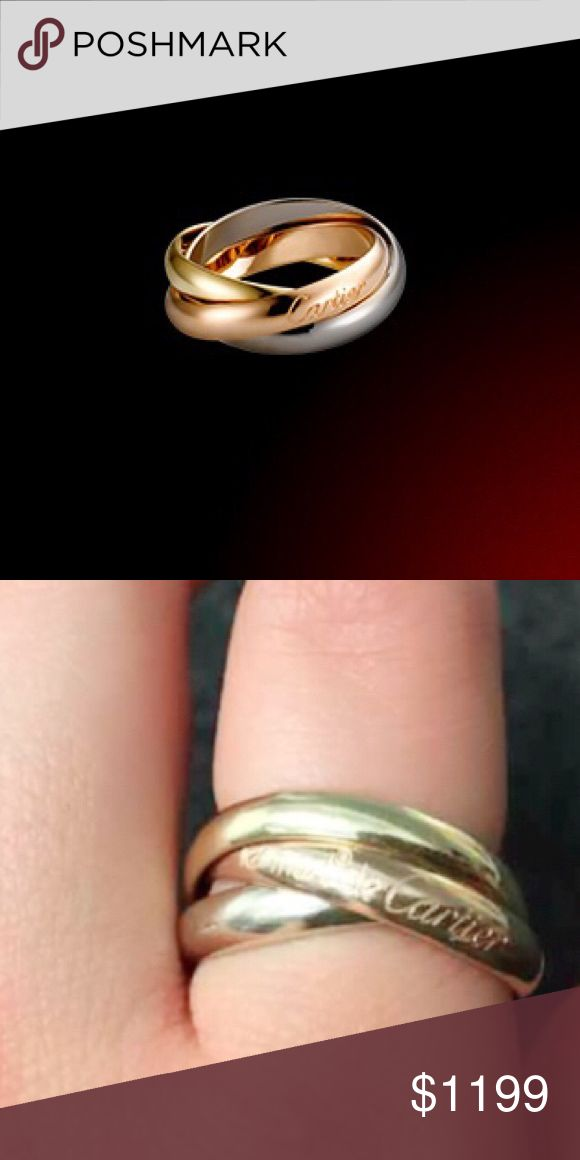authentic trinity les must de cartier ring 18k three bands intertwined in a display of mystery