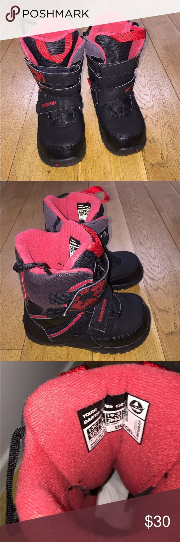 Burton Darth Vader Star Wars Snow Boots Size 3 These black and red Burton boots are like new! Burton Shoes Rain & Snow Boots
