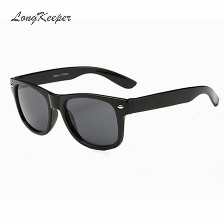Kinder Kids Classic Style polarisierte Sonnenbrille UV400 Schutzbrille TAC Flexible Frame für Jungen Mädchen (Farbe : Black frame yellow legs) UgRK3F1U