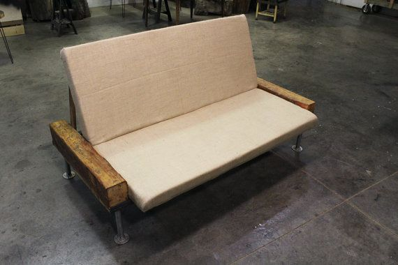 Industrial Futon Couch / Queen bed made with by MtHoodWoodWorks, $1199.00