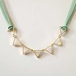 Some basic jewelry-making techniques + novel materials = a pretty cool little necklace.