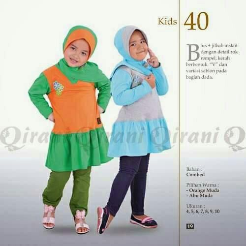 Baju blus Qirani Kid Anak Model QK40 Buy 1 get 1 free