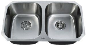 Kraus KBU22 32-Inch Undermount 50-50 Double Bowl 16 gauge Stainless Steel Kitchen Sink:   Not only is it cheap, it's also practical and made from high quality materials. Click for our review!