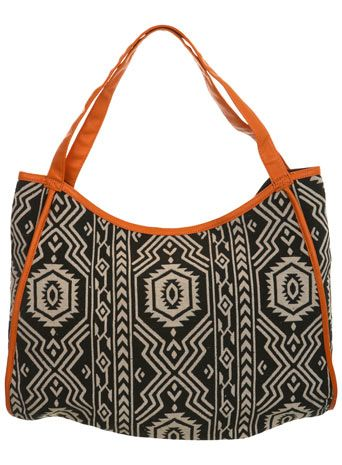 School bag... Aztec Print Shopper bag - Bags & Purses - Accessories - Miss Selfridge ($20-50) - Svpply