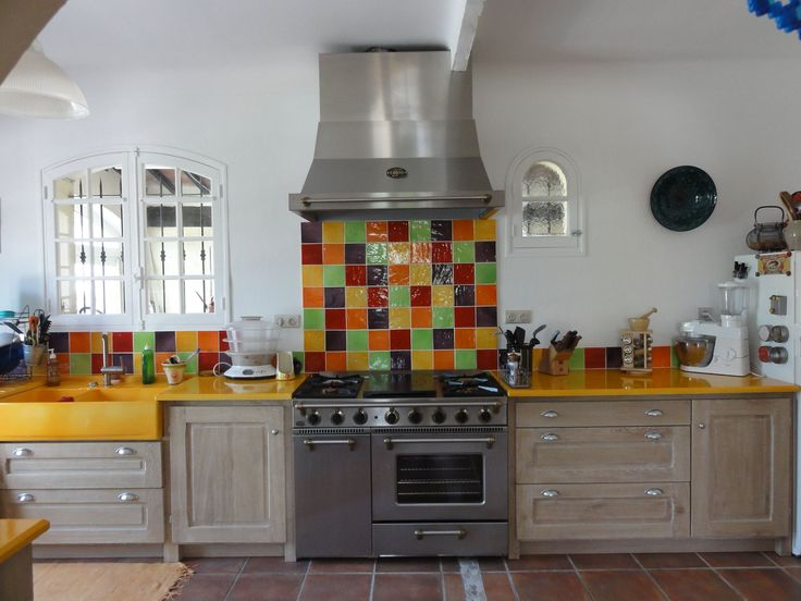 carrelage salernes couleur mais choses acheter pinterest - Faience Coloree Cuisine