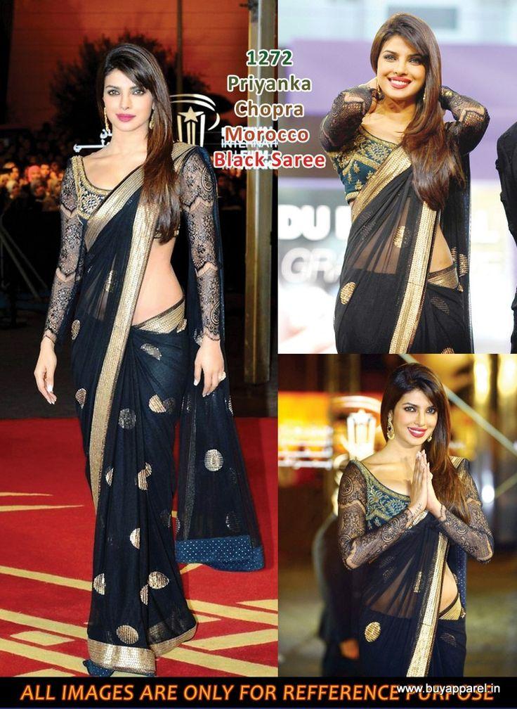 @ $85 Priyanka Chopra Marrakech film festival saree with free shipping offer at www.buyindianwear.com