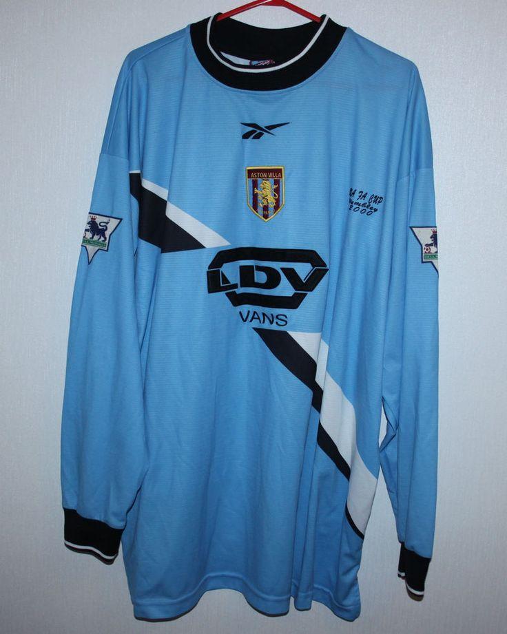 Vintage Aston Villa England goalkeeper shirt 99/00 Reebok | eBay