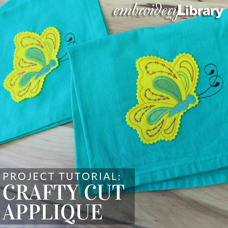 Embroider crafty cut applique with this tutorial from