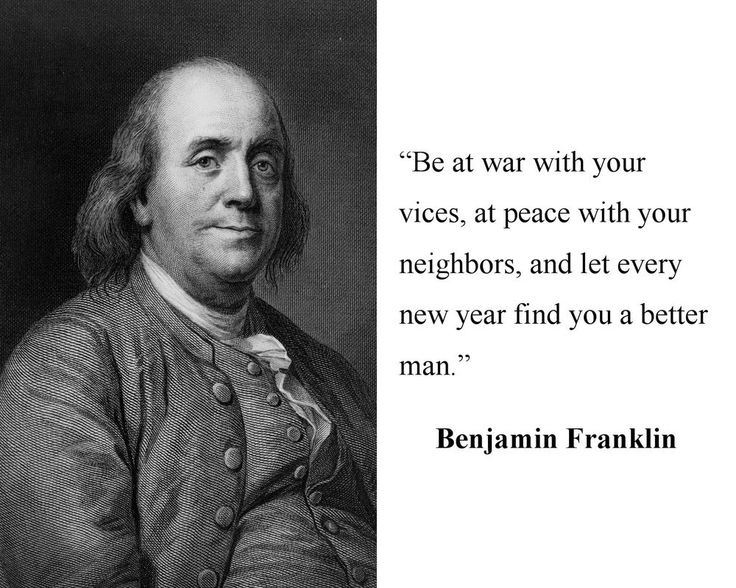 Benjamin Ben Franklin Founding Father U.S. America Quote 8