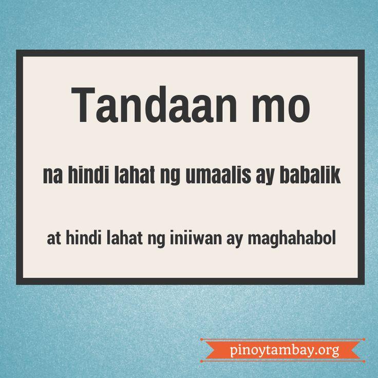 Goodbye High School Quotes Tagalog: Tagalog Quotes- Pag Alis