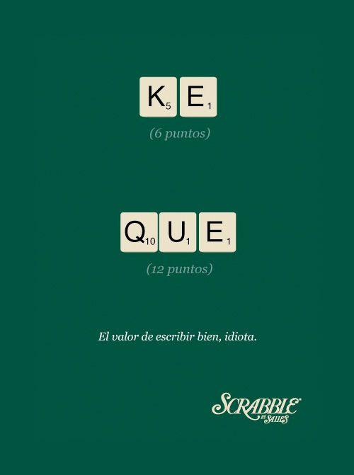 Campaña Scrabble El valor de escribir bien #MarketerosNocturnos