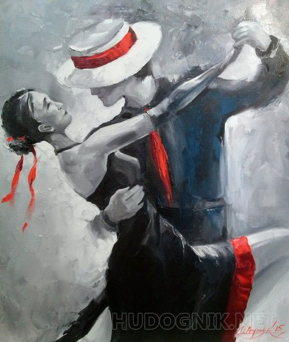 Наше танго  Картина маслом на холсте,танец,танго