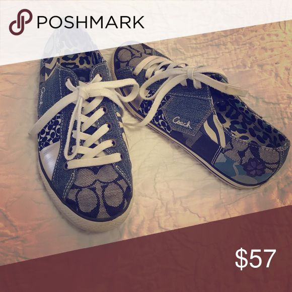 Coach sneakers Comfy and stylish, coach tennis shoes in navy blue variations. Ready for their new home. Coach Shoes Sneakers