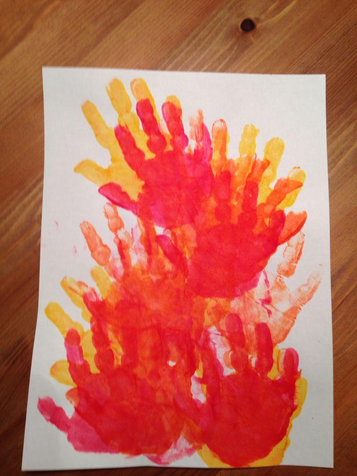 Handprint Fire Craft Preschool Craft Kids Crafts