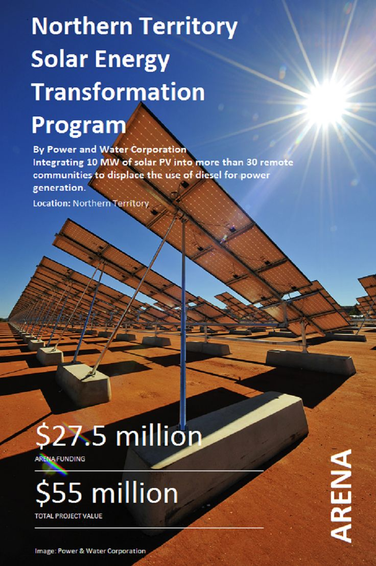 Integrating 10MW of #solar PV into more than 30 remote communities to displace the use of diesel for power generation #ARENA_aus Image: Power and Water Corporation