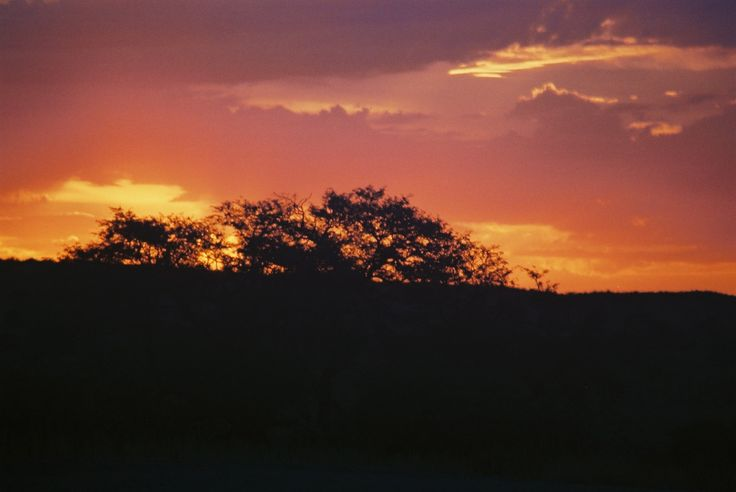 The fire of a sunset in SA