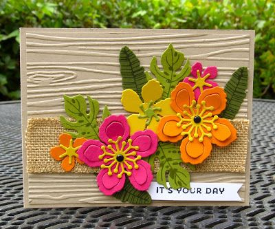 Krystal's Cards: Stampin' Up! Botanical Blooms Sunburst