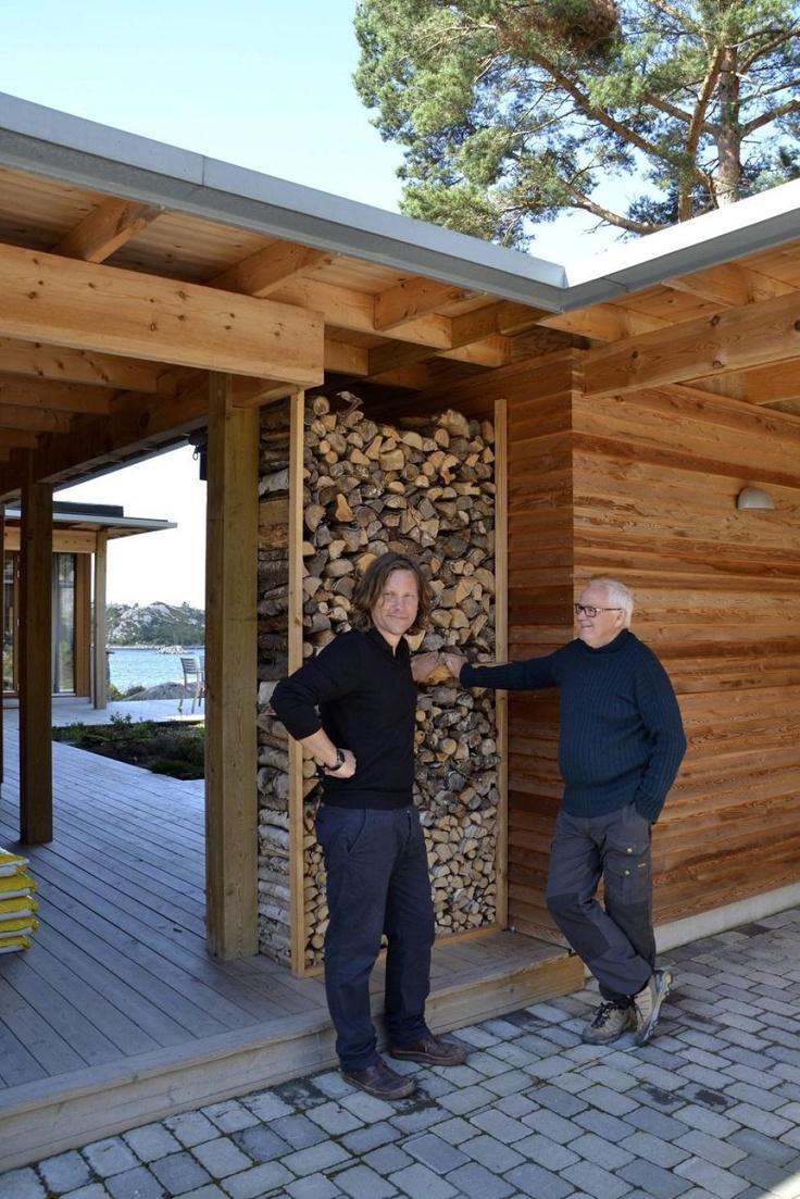 samarbeid: Jo Kjetil Nielsen og Johannes Sandvik samarbeider nå om nye prosjekt på Kråko Sjøhytteområde. Det neste som står for tur er fritidslandsbyen Port Steingard.